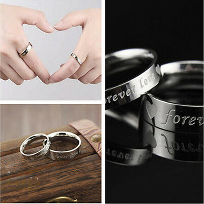 Couple Ring Wedding Bands Titanium Stainless Steel Forever Love Set Top Sale