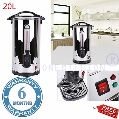 20L Stainless Steel Tea Hot Water Coffee Urn Electric Catering Boiler Commercial