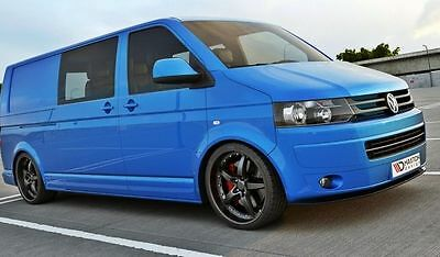 Cup Spoilerlippe Front Diffusor Carbon Look VW T5 Facelift ver.2