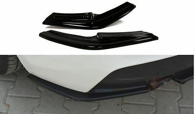 Heck Ansatz Flaps Cup Diffusor Spoiler Schwarz Ford Focus MK2 RS