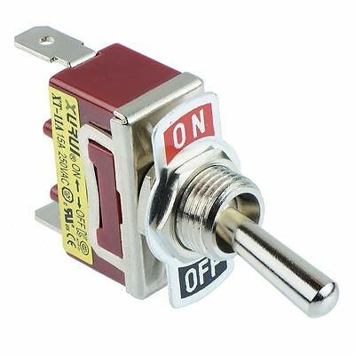 On-Off SPST Toggle Switch 250V AC 15A