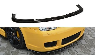 Cup Spoilerlippe Front Diffusor Schwarz VW Golf IV R32