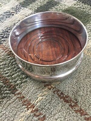 Lovely Vintage Silverplated Wine Coaster