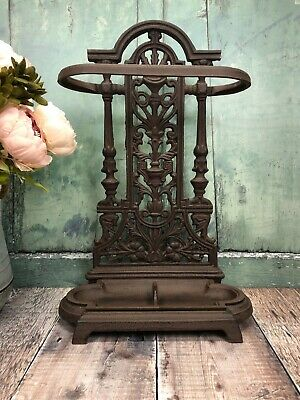 Cast Iron Ornate Umbrella Brolly and Walking Stick Stand