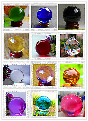 Magic Asian Ball Glass Sphere Crystal Ball 38-40mm w/Stand 12 COLOR CHOICE