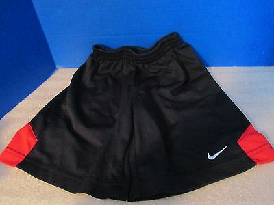 NIKE~Black with Red ATHLETIC SOCCER SHORTS~Boys / Girls Size 6