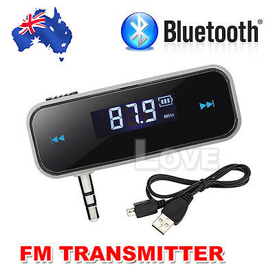 3.5mm Wireless Car FM Transmitter Handsfree Radio For iPhone 7 Plus Mobile Phone