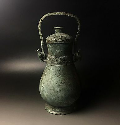"""Rare Chinese bronze wine vessel Tiliang """"You"""""""
