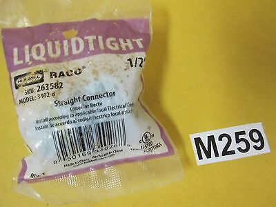"""Raco 1/2"""" Trade Size Straight Liquid tight Connector Hubbell Lighting 3402-8"""
