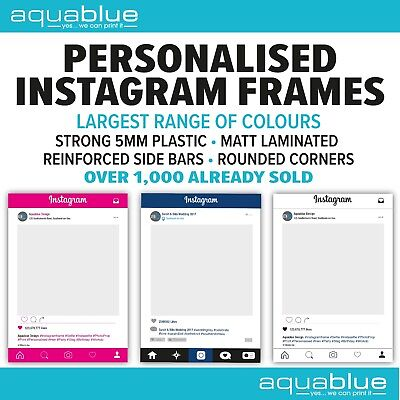 A1 PERSONALISED WHITE New Style Instagram Frame Photo Prop Weddings ...