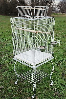 """NEW Large 20 Inch Parrot Bird Cage Top Play With Stand Wheel 20x20x57""""H WTE 368"""