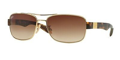 Ray Ban RB3522 001/13 Gold Frame Gradient Brown 61mm Lens Sunglasses
