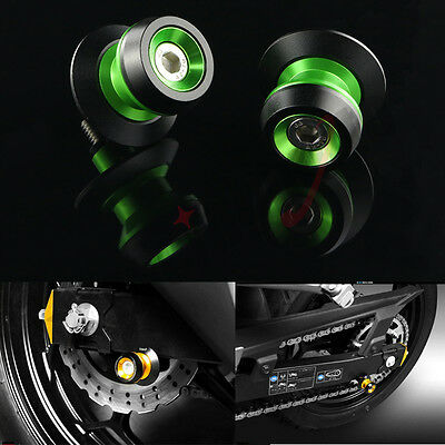 10mm CNC Swing Arm Stand Spools Slider For Kawasaki ZX-10R ZX6R ZX636 ZX12R ZX9R