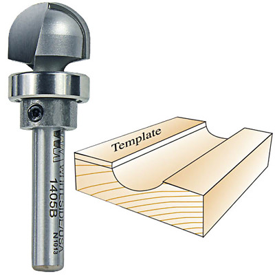 Whiteside Router Bits 1405B Round Nose with Bearing