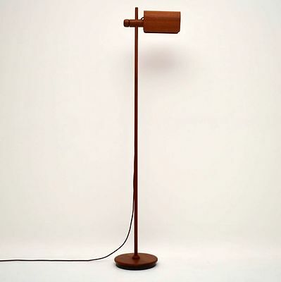 DANISH TEAK RETRO RISE & FALL FLOOR LAMP VINTAGE 1960's