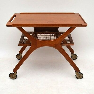 DANISH TEAK RETRO DRINKS TROLLEY / SIDE TABLE VINTAGE 1960's