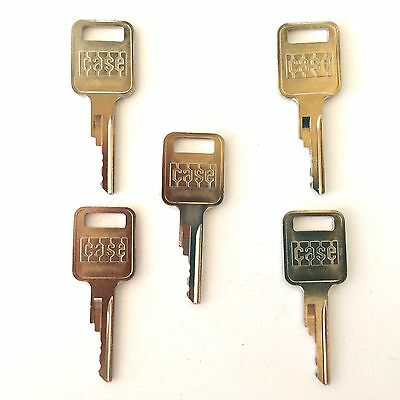 (5) Case - Bobcat Backhoe & Skidsteer Heavy Equipment Keys-with Logo