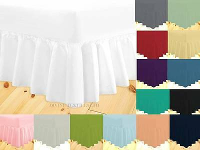Extra Deep Percale Frill Valance Fitted Bed Sheets Single Double King Super King