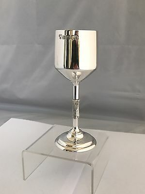 Silver Wine Goblet Textured Stem 1977 Sterling Silverware High Quality & Heavy