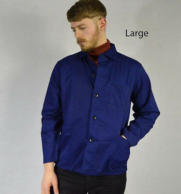 Grade A Navy Vintage French Chore Shirt Worker Jacket Overshirt