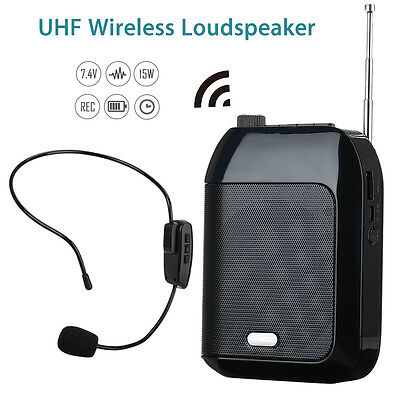 15W T9 UHF Wireless Voice Amplifier Loudspeaker Rechargeable for Meeting/Tourism