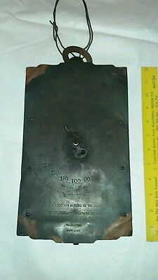 Vintage Chatillons Hanging Scale 400 Lb. By Pound Brass Face 6 3/4 x 12 Inch