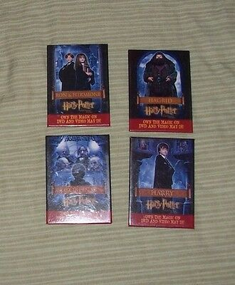 HARRY POTTER Sorcerer's Stone set of 4 Character Buttons DVD Launch 2002 pinback
