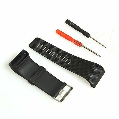 for Fitbit Surge Silicone Watch Replacement Band Strap Wristband w/Buckle Kit