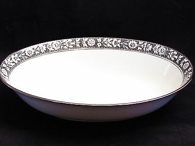 "Oval 10 1/2 "" Serving Vegetable Bowl Navarro by Sango Japan Fine China"