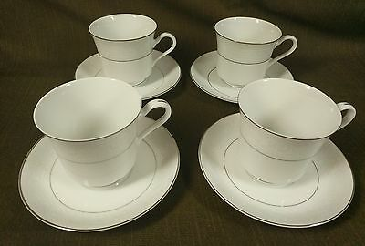 American Limoges Porcelain Salem Heritage Lace Bouquet Footed Cup and Saucer 4