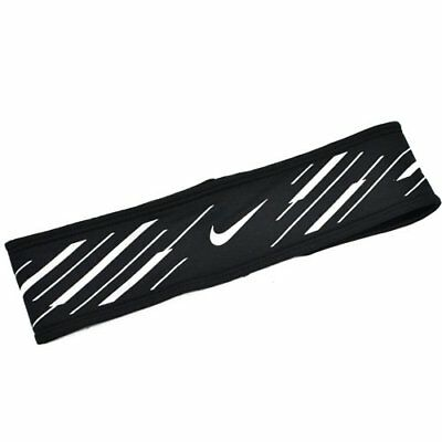 NIKE Run Flash Running Headband, Black x White