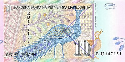 Macedonia 10 denari  1.2008  P 14h  Uncirculated Banknote , G5