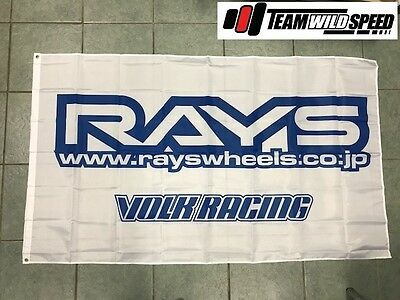 Ozzy Seller - Rays Volk Racing Large Hanging Flag For Workshop or Man Cave