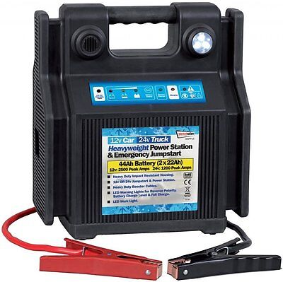 Battery Jump Start Heavy Duty 12v Car & 24v Truck Portable Power Pack Station