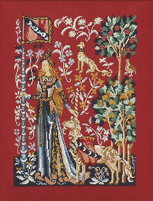 Princesse Counted Cross Stitch Kit – Lady and the Unicorn - Touch (Le toucher)