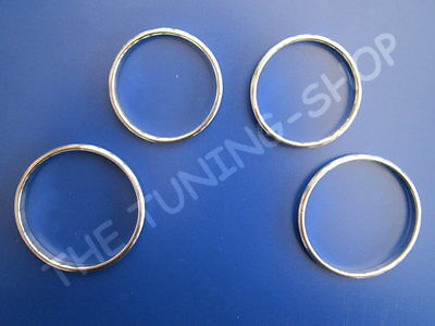 For Fiat 500 07-15 Alloy Rings Manual Heater Controls Chrome Surrounds Set Of 4
