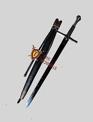 Medieval Knight Sword Peened Tang Spring Handmade Functional Full Tang SCA armor
