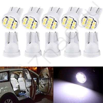 10x White T10 W5W 192 168 8-3020-SMD LED Car Instrument Dash Cluster Light Bulbs
