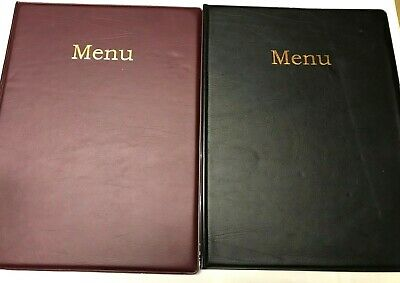 Qty 25 -A4 Menu Holder/Cover/Folder In Brown Leather Look Pvc - Classic Look