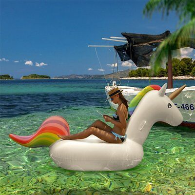 Femor Inflatable Float Raft Unicorn Summer Swimming Pool Water Sports Beach Toy