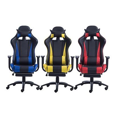 OUTAD High Back PU Leather Office Chair Racing Gaming Swivel Computer Desk OY