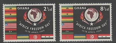 Ghana Sg211/2 1959 Africa Freedom Day Mnh