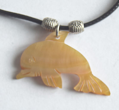Adorable Dolphin Shell Pendant - Hand Crafted - Wonderful Gift!!