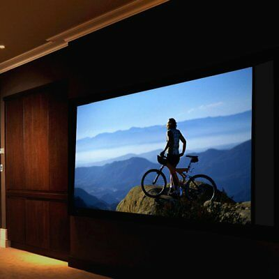 100'' Manual Pull Down Projector Projection Screen 16:9 Matte HD 3D Home Cinema