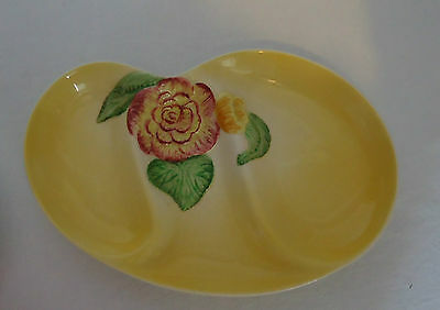 Lovely Vintage Art Deco Shorter & Sons England H/Painted Divided Serving Plate