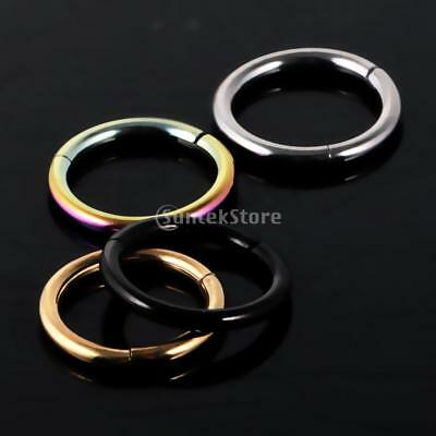 8mmx16g Seamless Steel Segment Ring Hoop Ear Nose Lip Cartilage Tragus Helix