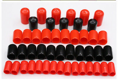 1.5-50mm Inner Dia PVC Nuts Bolts Pipe Cable Slip Cap End Cover Fitting RedBlack