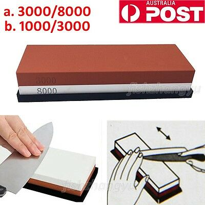 Water Stone Whetstone Knife Sharpener Sharpening Flattening 1000/3000 3000/8000