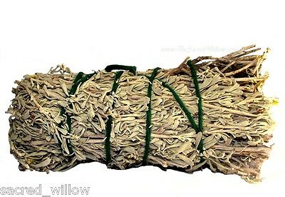 Sage and Sweetgrass Smudge Stick 12cm Cleansing Wicca Altar Ritual Cleanse &