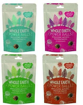 Whole Earth Protein Power Balls Snack Range & Mixed Cases *Vegan, Gluten Free*